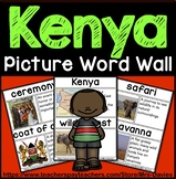 Kenya Picture Word Wall