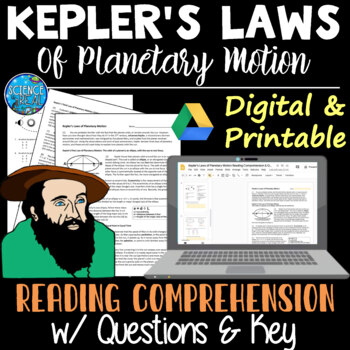 kepler s laws of planetary motion science reading comprehension activity
