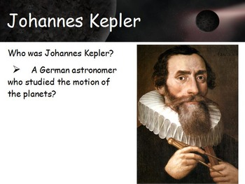 Astronomy - Kepler's Laws of Planetary Motion w/worksheet