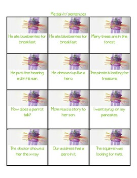 Ker Plunk Articulation Cards - Initial, Medial, and Final R in Sentences