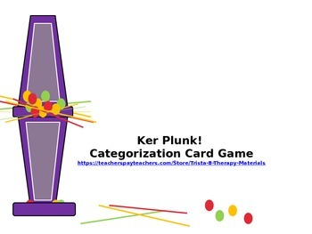 Ker Plunk! Categorization: Identifying and Listing Items in Categories
