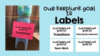 Kerplunk Goal Sign for Classroom Management