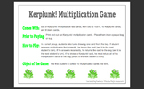 Kerplunk! Multiplication Game!