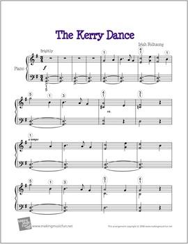 Kerry Dance   Free Celtic Sheet Music for Piano (Digital Print)