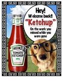"""""""Ketchup"""" Absent Missed Work Folder"""