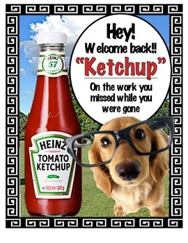 """Ketchup"" Absent Missed Work Folder"