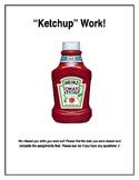 Ketchup Bin Label