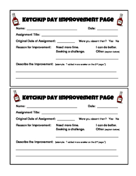 Ketchup Day Improvement Page