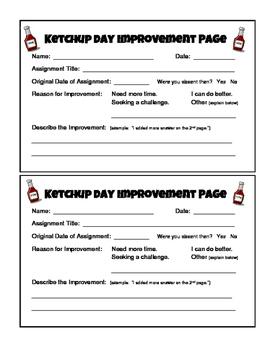 Ketchup Day Improvement Page