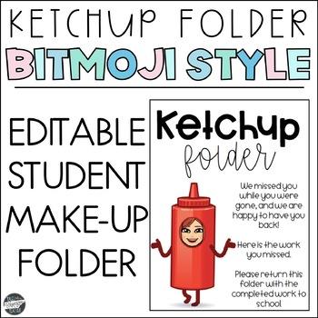 Ketchup Folder - Bitmoji Style