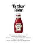 """""""Ketchup"""" Folder Cover"""