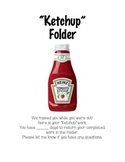 """Ketchup"" Folder Cover"