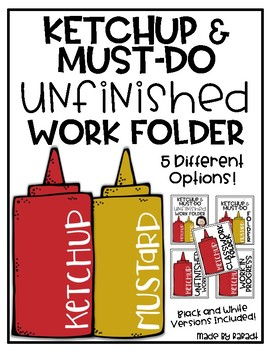 Ketchup Folder Cover {Organization Tool}