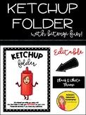 Ketchup Folder - EDITABLE (Black and White Theme)