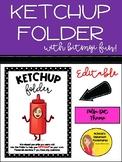 Ketchup Folder - EDITABLE (Polka Dot Theme)