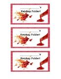 Ketchup Folder Label