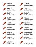 Ketchup Folder Labels
