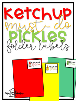 Ketchup Folder Labels