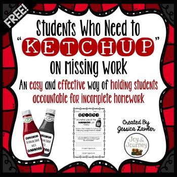 Incomplete Homework Management: Ketchup List