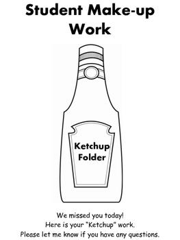 Ketchup/Make-up Work Folder Label