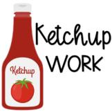 Ketchup Work Folder Cover
