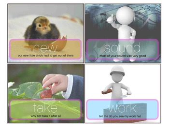 First Sight Word Task Cards 100 200 - Literacy ESL SPED Early Intervention