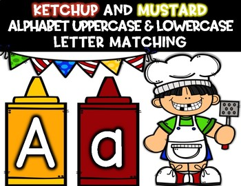 Ketchup and Mustard Alphabet Uppercase and Lowercase Letter Matching