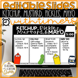 Ketchup and Pickles EDITABLE with Timer and Folder Labels