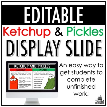 Ketchup and Pickles Poster | FREEBIE
