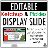 Ketchup and Pickles Template | FREEBIE
