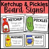 Ketchup and Pickles Signs