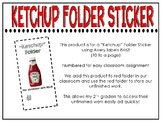 Ketcup Folder Sticker / Labels