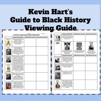 Kevin Hart's Guide to Black History Viewing Guide