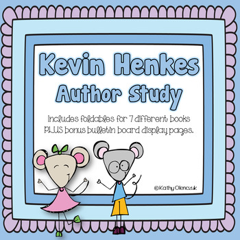 Kevin Henkes -- Author Study Tri-folds