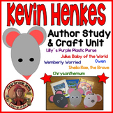 Kevin Henkes Author Study Unit CCSS Reading Literature