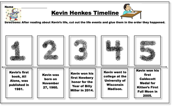 Kevin Henkes Cut and Glue Timeline
