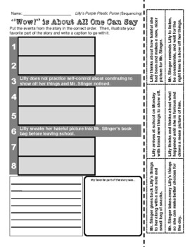 Kevin Henkes (Lilly's Purple Plastic Purse - Sequencing / Retelling)