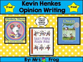 Kevin Henkes Opinion Writing Freebie
