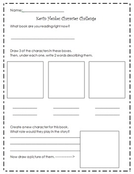 Kevin Henkes Reading and Writing Response Activities Unit