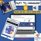Key #3: My Communication -  Interactive Google Slides- IEP