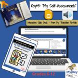 Key #5:  My Self-Assessments -  Interactive Google Slides-