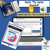 Key #6:  My Career Research -  Interactive Google Slides-