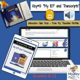 Key #8:  My IEP/Transcripts -  Interactive Google Slides -