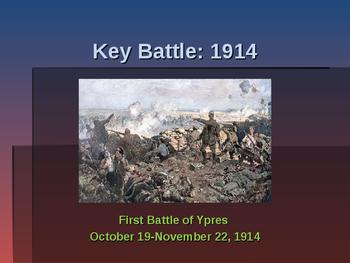 World War I - Key Battles - 1914 - First Battle of Ypres
