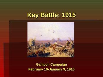 World War I - Key Battles - 1915 - Gallipoli Campaign