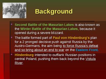 World War I - Key Battles - 1915 - Second Battle of Masurian Lakes