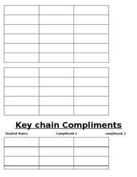 Classroom Compliments (End of the Year)