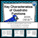 Key Characteristics of Quadratic Function Boom Cards--Digital Task Cards