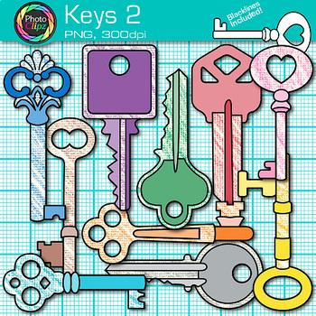 Key Clip Art {Rainbow Glitter Graphics for Growth Mindset and Keyword Use} 2