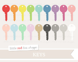 Key Clipart; House, Lock, Door, Moving Day
